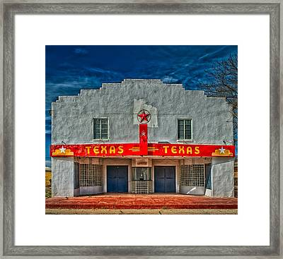 The Texas Theatre Framed Print by Mountain Dreams