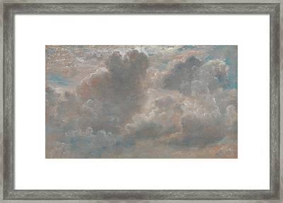 Title Cloud Study Framed Print by John Constable