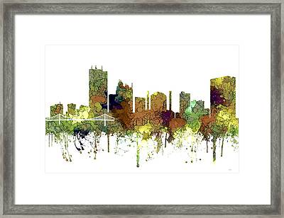 Toledo Ohio Skyline Framed Print