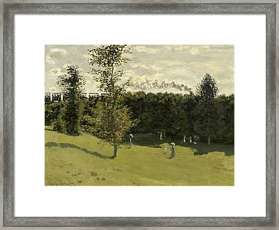 Train In The Countryside Framed Print