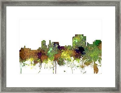 Trenton New Jersey Skyline Framed Print