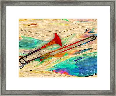 Trombone Collection Framed Print by Marvin Blaine