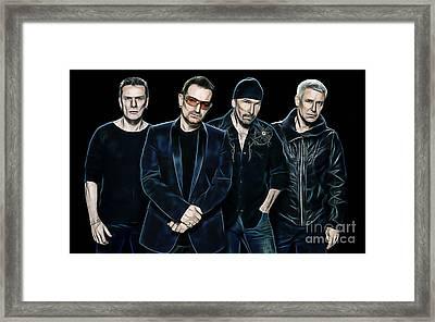 U2 Collection Framed Print