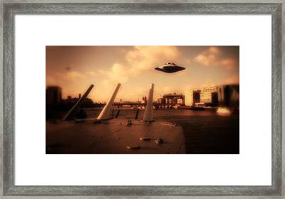 Ufo Sighting Framed Print by Raphael Terra