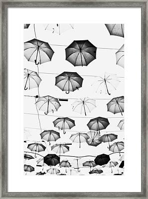 Umbrellas Framed Print
