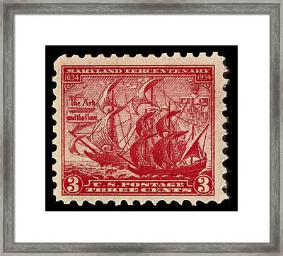 Old Sailing Ship Postage Stamp Framed Print by James Hill