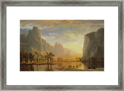 Valley Of The Yosemite Framed Print