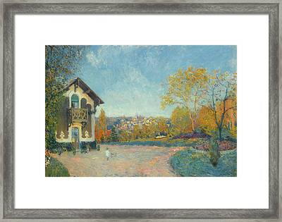 View Of Marly - Le - Roi From Coeur - Volant Framed Print