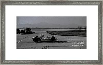 Vintage Racing Car European Gp Framed Print by Jim Kayalar