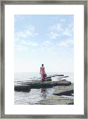Walking Into The Sea Framed Print