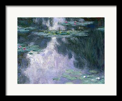 Willow Lake Paintings Framed Prints