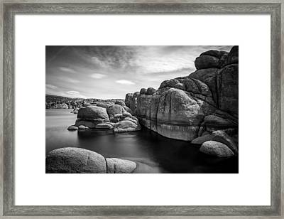 Watson Lake Framed Print by Jon Manjeot