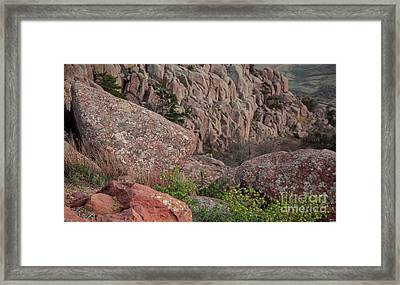 Framed Print featuring the photograph Wichita Mountains by Iris Greenwell