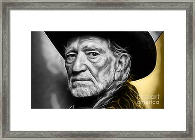 Willie Nelson Collection Framed Print