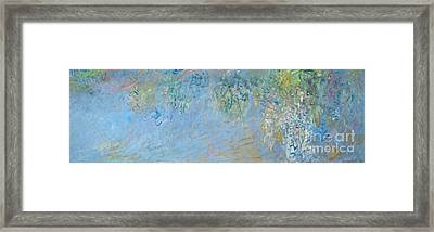 Wisteria Framed Print by Claude Monet