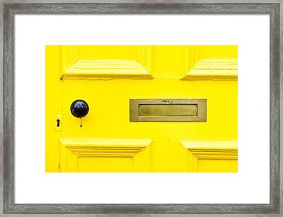 Yellow Door Framed Print