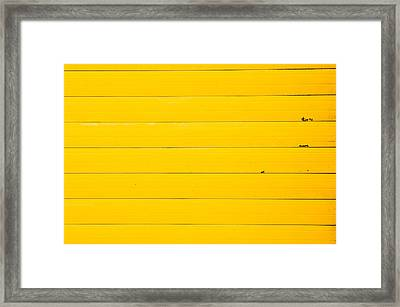 Yellow Metal Framed Print