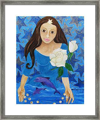 Yemanja Framed Print by Maria Matheus Maria Santeira