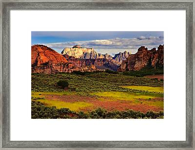Zion National Park Utah Framed Print