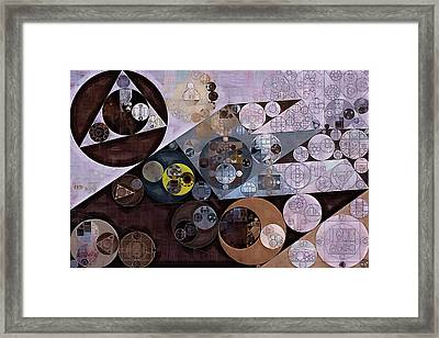 Framed Print featuring the digital art Abstract Painting - Zinnwaldite Brown by Vitaliy Gladkiy