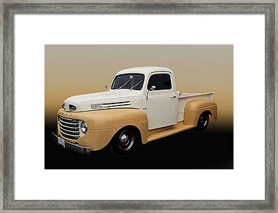 50 Ford Pickup Framed Print by Jim  Hatch
