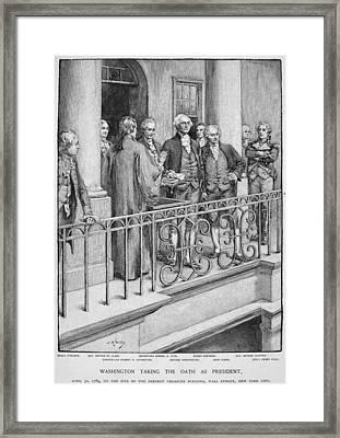 George Washington Framed Print by Granger