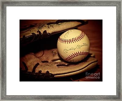 Framed Print featuring the photograph 50 Home Run Baseball by Mark Miller