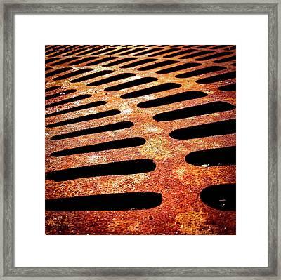 Iron Detail Framed Print