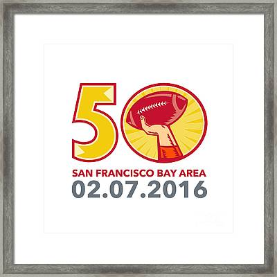 50 Pro Football Championship Sunday 2016 Framed Print by Aloysius Patrimonio