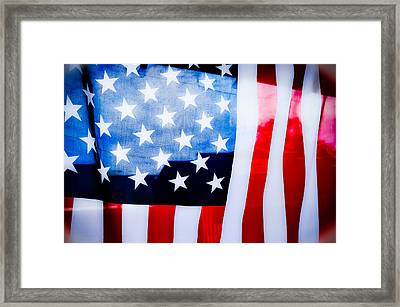 50 Stars 13 Bars Framed Print by Keith Sanders