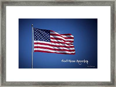 50 Stars Thirteen Stripes American Flag  God Bless America Framed Print