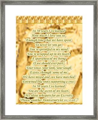 50 Year Golden Anniversary Framed Print
