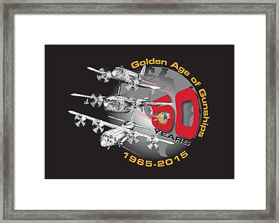 50 Years Of Gunships Framed Print by Dennis Bivens