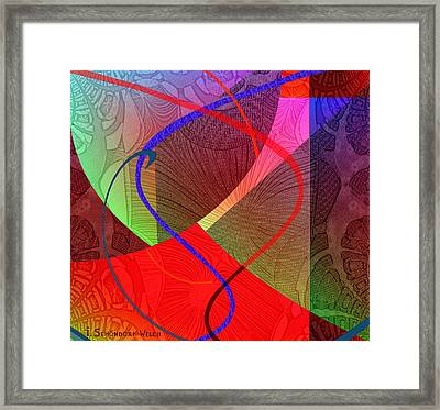 504 - Patterns  2017 Framed Print by Irmgard Schoendorf Welch