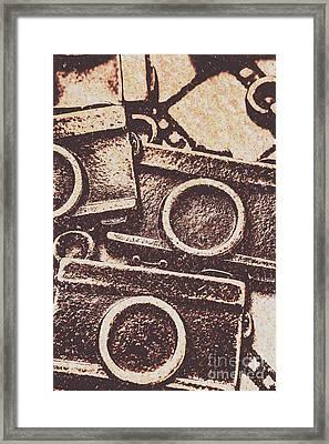 50s Brownie Cameras Framed Print