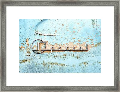 50s Buick Special Nameplate Framed Print by Jim Hughes