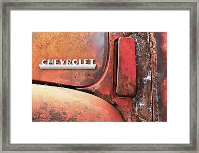 50s Chevrolet Pickup Logo Framed Print by Jim Hughes
