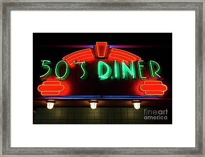 50's Diner Framed Print by Bob Christopher
