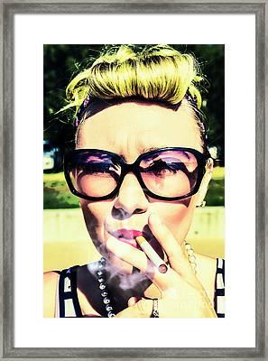 50s Fashion Attitude Framed Print