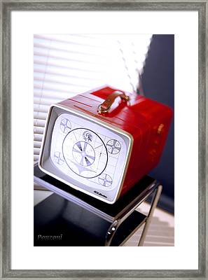 50s Tv Framed Print by Robert Ponzoni