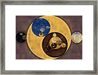 Framed Print featuring the photograph Abstract Painting - Zinnwaldite Brown by Vitaliy Gladkiy