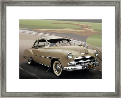 51 Chevrolet Deluxe Framed Print by Bill Dutting