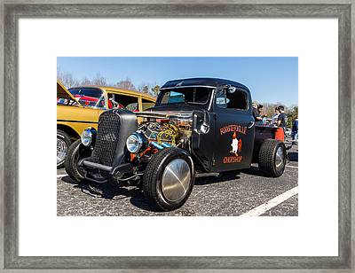 Framed Print featuring the photograph 51 Ford F-1 Rat Rod - Ehhs Car Show by Michael Sussman