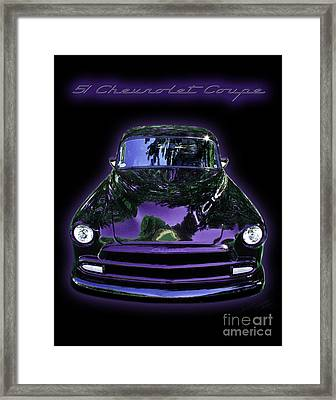 51chevrolet Coupe Framed Print by Peter Piatt