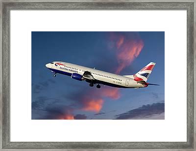 British Airways Boeing 737-400 Framed Print