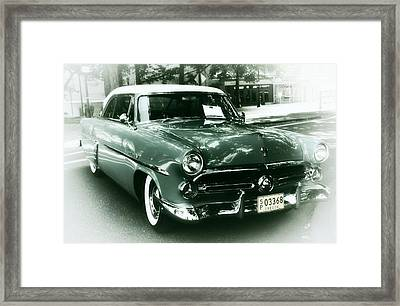 '52 Ford Victoria Hard Top Framed Print by Cathie Tyler