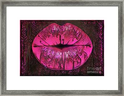 Kissing Lips Framed Print