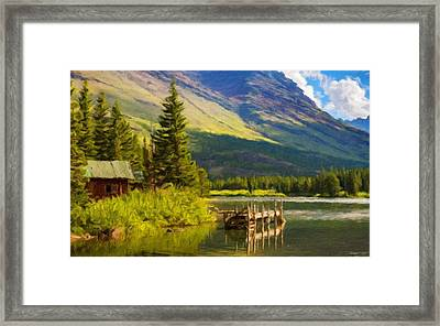 Landscape Painting Acrylic Framed Print