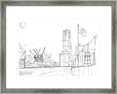 5.2.japan-1-tokyo-skyline Framed Print