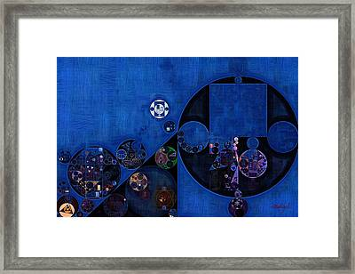 Framed Print featuring the digital art Abstract Painting - Onyx by Vitaliy Gladkiy